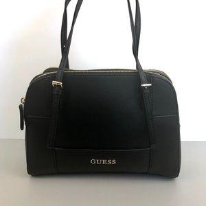 Guess Black Faux Leather Handbag Doctor Bag